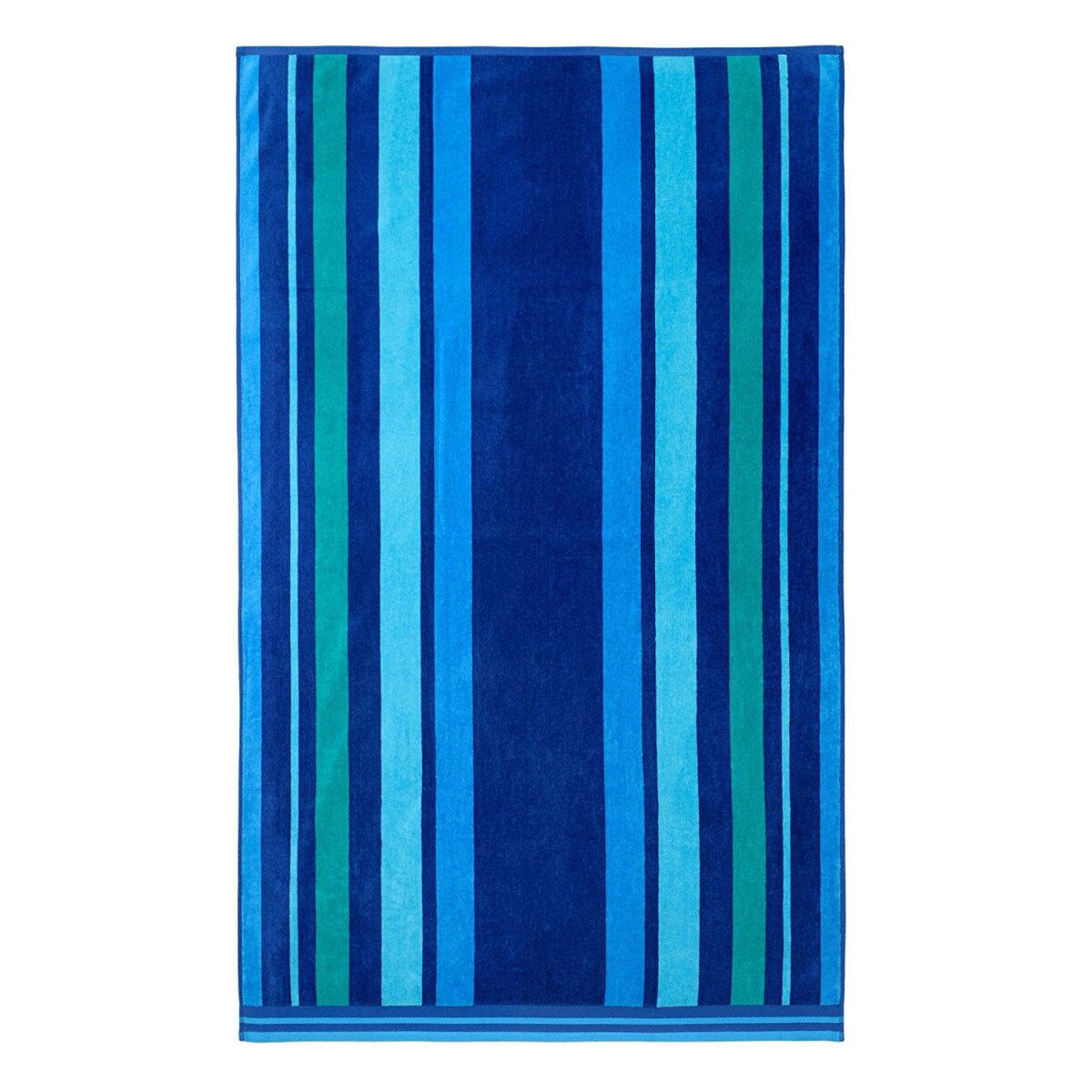 strandtuch velours jacquard streifen blau petrol. Black Bedroom Furniture Sets. Home Design Ideas