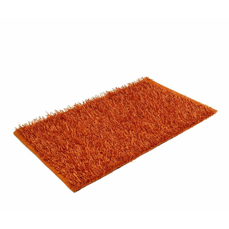 Teppich Langflor Shaggy orange 70 x 120 cm
