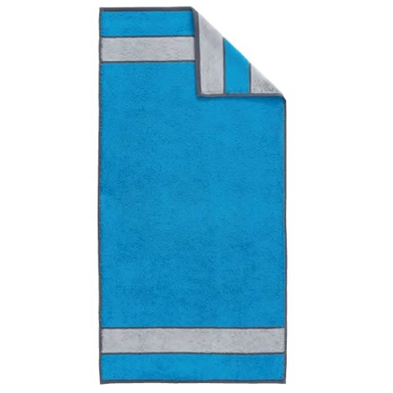 Dyckhoff Frottierserie Colour Blocking SMOOTH Handtuch (50 x 100 cm) azur (417)